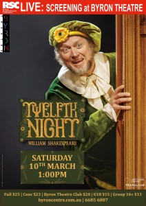 Twelfth Night by William Shakespeare - RSC Live Screening presented by Byron Theatre @ Byron Theatre