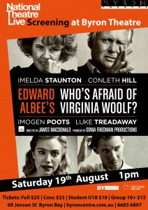 Who's Afraid of Virginia Woolf?  - National Theatre Live Screening presented by Byron Theatre @ Byron Theatre