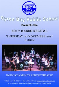 Byron Bay Public School 2017 Bands Recital presented by Byron Bay Public School @ Byron Theatre