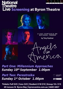 Angels In America - Part One: Millennium Approaches - National Theatre Live Screening presented by Byron Theatre @ Byron Theatre