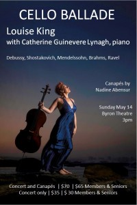 Cello Ballade presented by Byron Music Society @ Byron Theatre