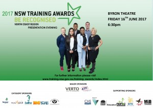 2017 NSW Training Awards North Coast Presentation Presented by Training Services NSW & The North Coast Training Awards Committee @ Byron Theatre