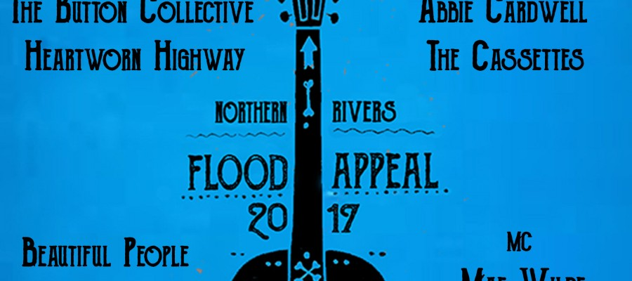 Rise Above The Flood Fundraiser concert poster