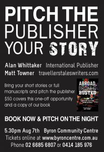 Pitch the Publisher presented by Matt Towner @ Byron Community Centre - Cavanbah Room