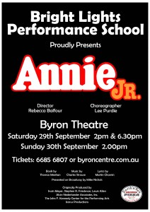 Annie JR. presented by Bright Lights Performance School @ Byron Theatre
