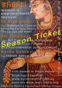 The Shakti Women's Empowerment Festival presented by ARD(Australia) Inc. @ Byron Theatre