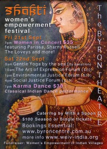 The Shakti Women's Empowerment Festival - Women In Concert presented by ARD(Australia) Inc. @ Byron Theatre
