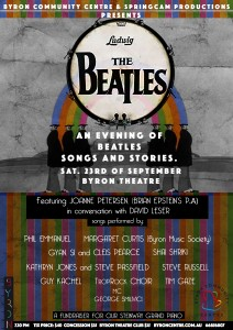 An Evening of Beatles Songs and Stories presented by Springcam Productions & Byron Community Centre @ Byron Theatre