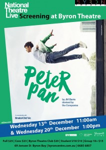 Peter Pan - National Theatre Live Screening presented by Byron Theatre @ Byron Theatre