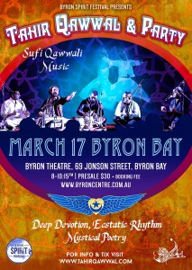 Sufi Qawwali with Tahir Qawwal and Ensemble presented by Byron Spirit Festival & Sama Music @ Byron Theatre