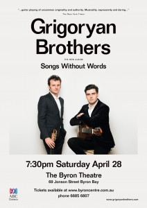 Grigoryan Brothers - Songs Without Words @ Byron Theatre