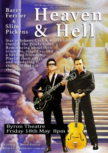 Heaven & Hell: The Friendship Of Johnny Cash And Roy Orbison **New Date** @ Byron Theatre | Byron Bay | New South Wales | Australia