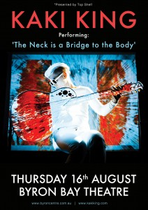 """Kaki King performs """"The Neck Is A Bridge To The Body"""" presented by Top Shelf Productions Pty Ltd @ Byron Theatre 