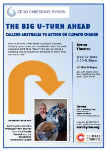 The Big U-Turn Ahead: Calling Australia to Action on Climate Change presented by Zero Emissions Byron (ZEB) @ Byron Theatre | Byron Bay | New South Wales | Australia