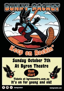 Bunny Racket - Keep on Rockin'! presented by Bunny Racket @ Byron Theatre | Byron Bay | New South Wales | Australia