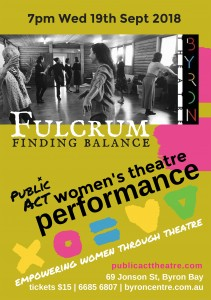 'Fulcrum' - Women's Theatre Performance presented by Public Act Theatre @ Byron Theatre | Byron Bay | New South Wales | Australia