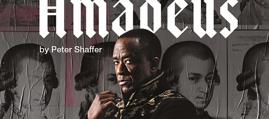 National Theatre Live poster for Amadeus by Peter Schaffer