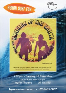 Byron Surf Flix: Morning of the Earth presented by Byron Theatre @ Byron Theatre