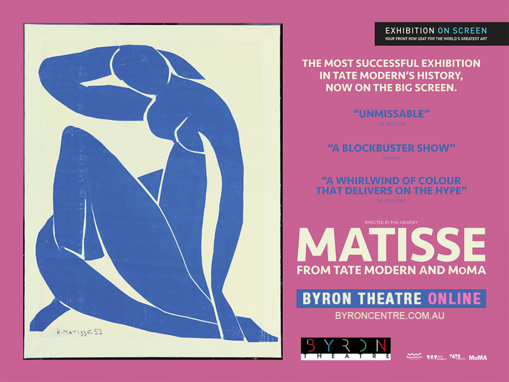 Stream at Home: Matisse from MoMA and Tate Modern - Exhibition On Screen Byron Theatre Online