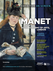 Manet from the Royal Academy - Exhibition On Screen @ Video On Demand