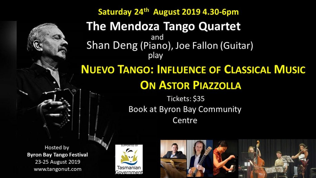 The Mendoza Tango Quartet - Nuevo Tango: Influence of Classical Music on Astor Piazzolla at Byron Bay Tango Festival - Byron Theatre
