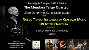 The Mendoza Tango Quartet - Nuevo Tango: Influence of Classical Music on Astor Piazzolla @ Byron Theatre