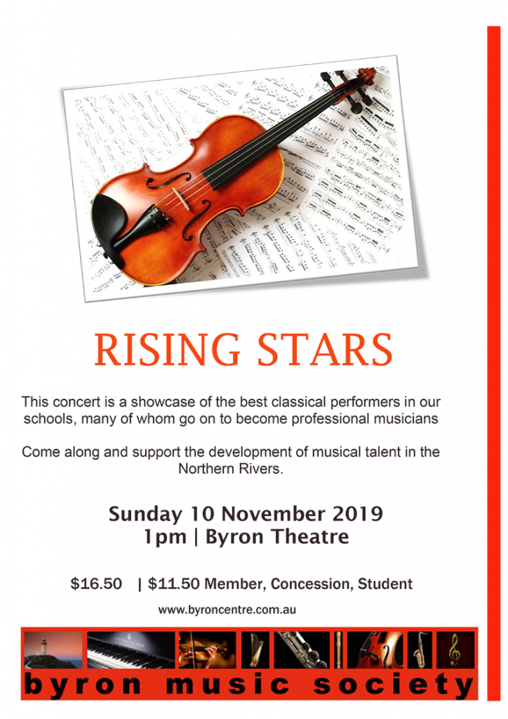Rising Stars Youth Concert 2019 presented by Byron Music Society at Byron Theatre