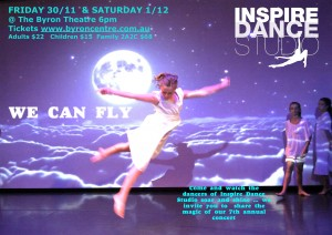 We Can Fly presented by Inspire Dance Studio @ Byron Theatre