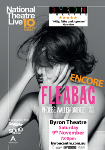 Encore Screening! Fleabag – National Theatre Live presented by Byron Theatre @ Byron Theatre