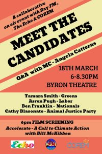 Meet the Candidates for the State Seat of Ballina @ Byron Theatre