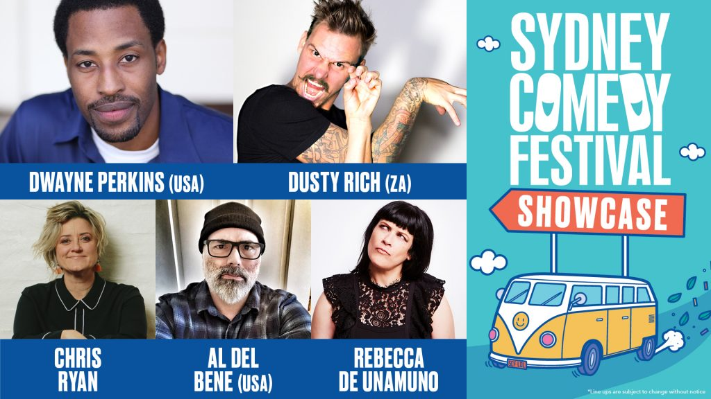Sydney Comedy Festival Showcase 2019 Line-up presented by Sydney Comedy Festival at Byron Theatre