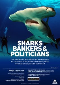 Sharks, Bankers & Politicians: Senator Peter Whish Wilson & An Expert Panel @ Byron Theatre