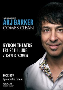 Arj Barker – Comes Clean presented by A-List Entertainment @ Byron Theatre | Byron Bay | New South Wales | Australia