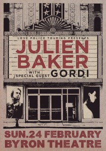 **TOUR CANCELLED** Julien Baker (USA) with Gordi presented by Love Police @ Byron Theatre