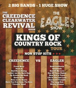 The Kings of Country Rock Tour - Eagles show Vs Creedence show presented by Little Big Rock Entertainment at Byron Theatre