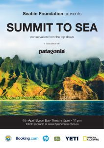 SUMMIT TO SEA presented by Seabin Foundation in association with Patagonia @ Byron Theatre