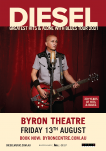 **POSTPONED TO APRIL 2022** DIESEL - 'Greatest Hits & Alone With Blues' Tour presented by The Harbour Agency @ Byron Theatre | Byron Bay | New South Wales | Australia